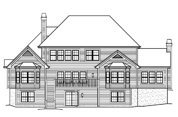 Country Traditional House Plan 95821 Rear Elevation