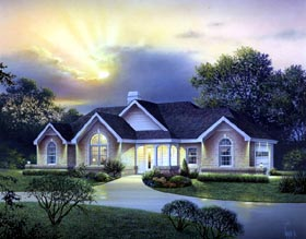 Country , Craftsman , Ranch , Traditional House Plan 95823 with 4 Beds, 3 Baths, 2 Car Garage Elevation