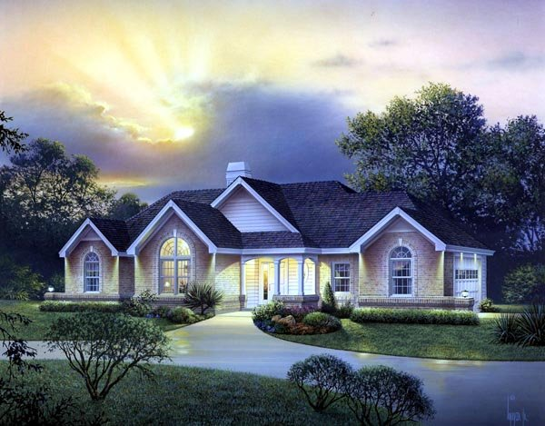 Country , Craftsman , Ranch , Traditional , Elevation of Plan 95823