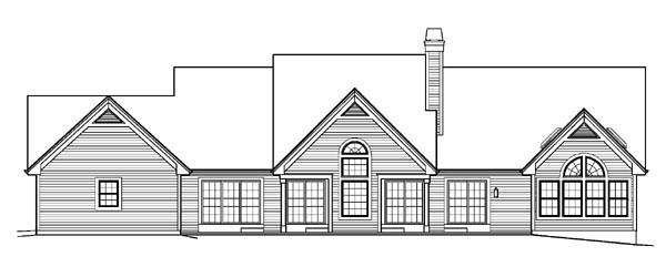 Country Ranch Traditional House Plan 95824