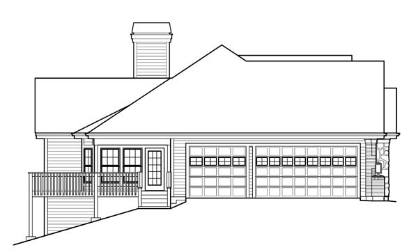 Ranch Traditional House Plan 95825