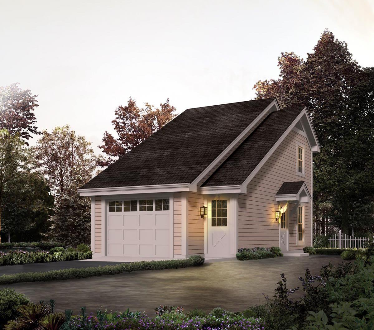 Garage plan 95826 at for Saltbox garage plans