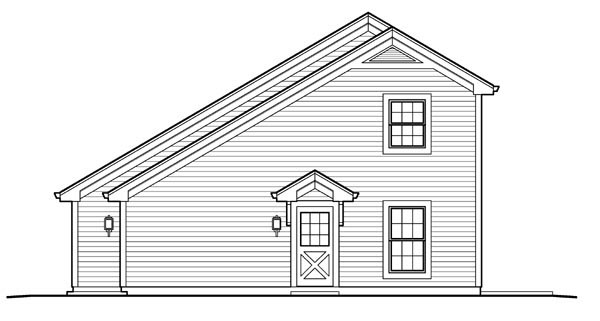 Country, Saltbox 1 Car Garage Apartment Plan 95826 with 1 Beds, 1 Baths Picture 2