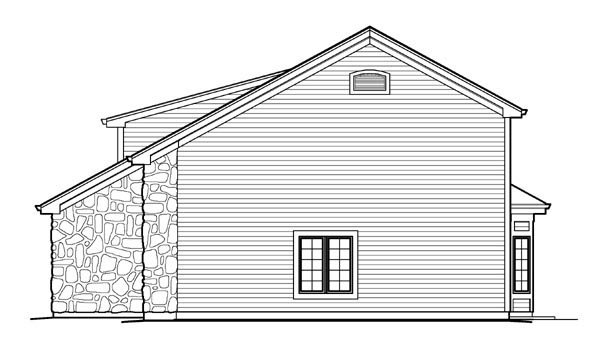 Cabin, Cottage, Country, Craftsman 3 Car Garage Apartment Plan 95827 with 1 Beds, 2 Baths, RV Storage Picture 2