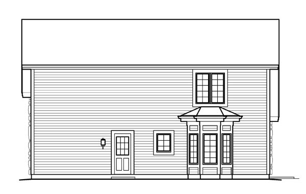 Cabin, Cottage, Country, Craftsman 3 Car Garage Apartment Plan 95827 with 1 Beds, 2 Baths, RV Storage Rear Elevation