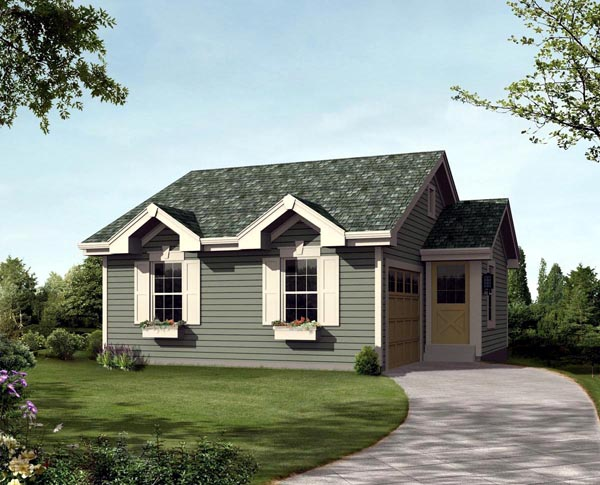 Cabin Cottage Ranch Traditional House Plan 95831 Elevation