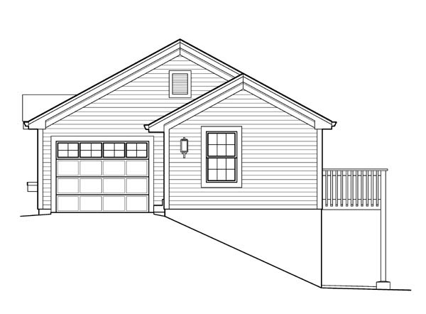 Cabin, Cottage, Ranch, Traditional House Plan 95831 with 1 Beds, 2 Baths, 1 Car Garage Picture 2