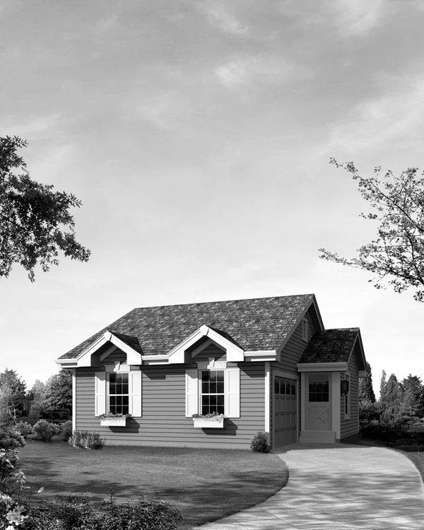 Cabin, Cottage, Ranch, Traditional House Plan 95831 with 1 Beds, 2 Baths, 1 Car Garage Picture 3
