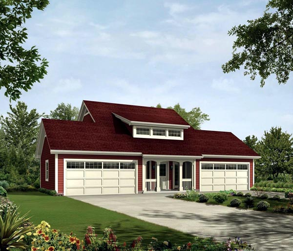 Contemporary Country Elevation of Plan 95832
