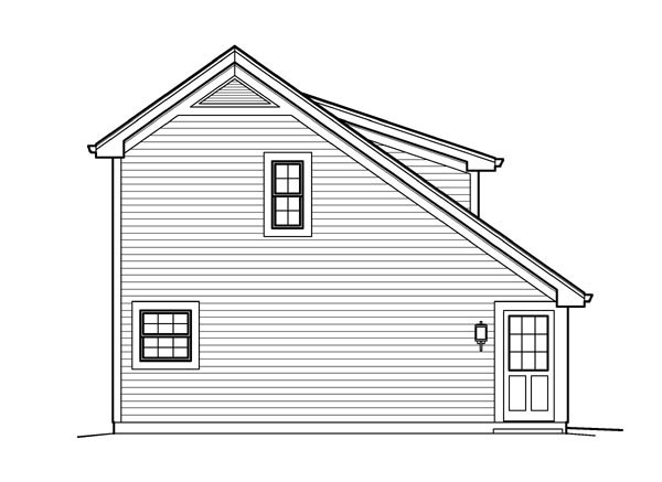 Cabin Cottage Country Saltbox Traditional Garage Plan 95833 – Saltbox Garage Plans