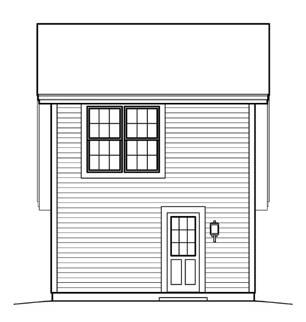 Cabin Cottage Country Saltbox Traditional Garage Plan 95833