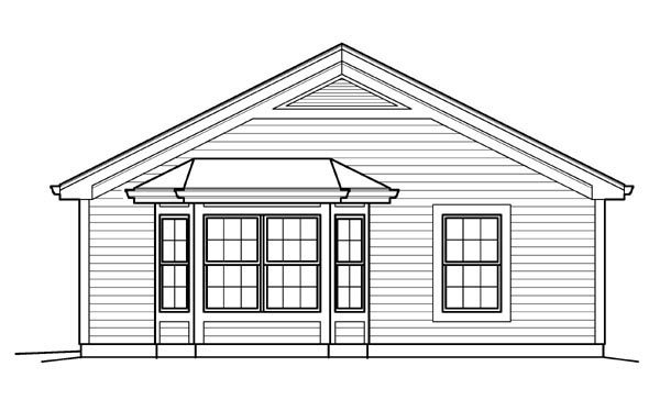 Ranch, Traditional House Plan 95834 with 1 Beds, 1 Baths, 1 Car Garage Picture 2