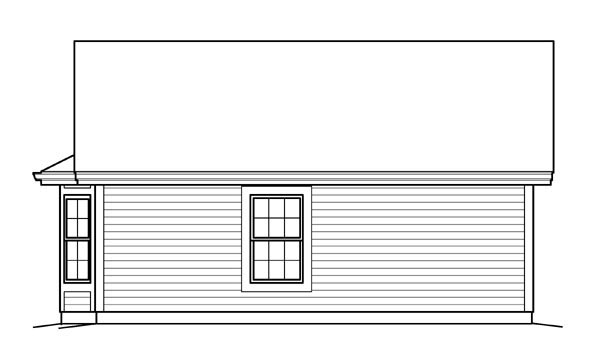 Ranch Traditional Rear Elevation of Plan 95834