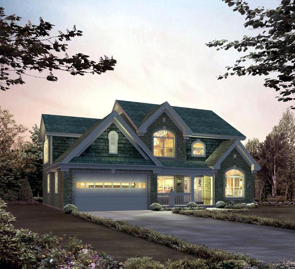 Country Traditional Elevation of Plan 95835