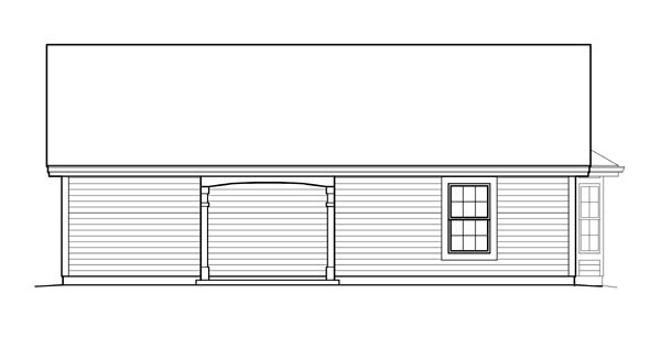 Cabin Cottage Country Ranch Traditional House Plan 95837 Rear Elevation