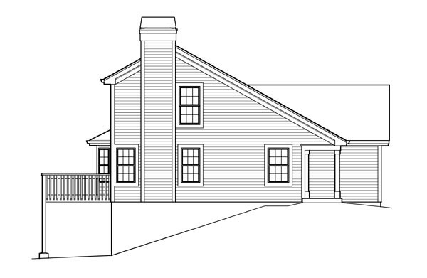 Traditional House Plan 95838 with 2 Beds, 2 Baths, 2 Car Garage Picture 1