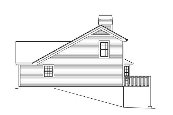 Traditional House Plan 95838 with 2 Beds, 2 Baths, 2 Car Garage Picture 2