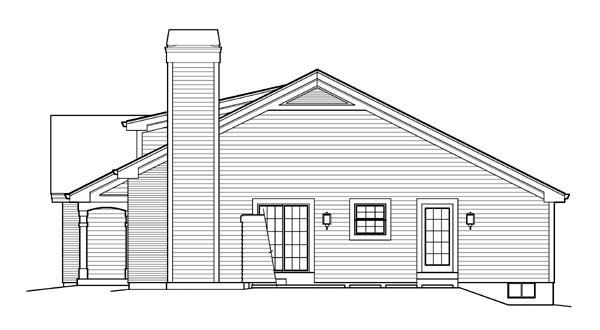 Country, Ranch, Traditional House Plan 95839 with 3 Beds, 2 Baths, 2 Car Garage Picture 2