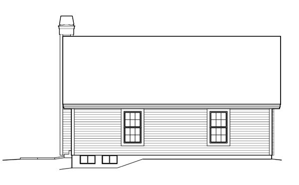 Country , Ranch , Traditional , Rear Elevation of Plan 95839