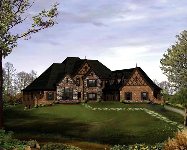Tudor House Plan 95840 Elevation