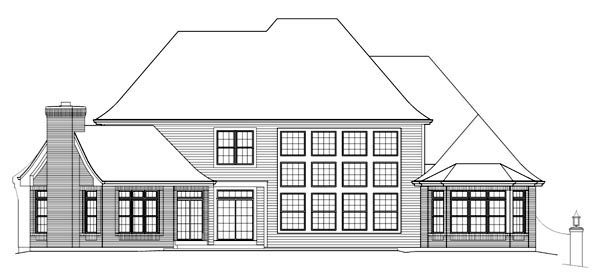 Tudor House Plan 95840 Rear Elevation