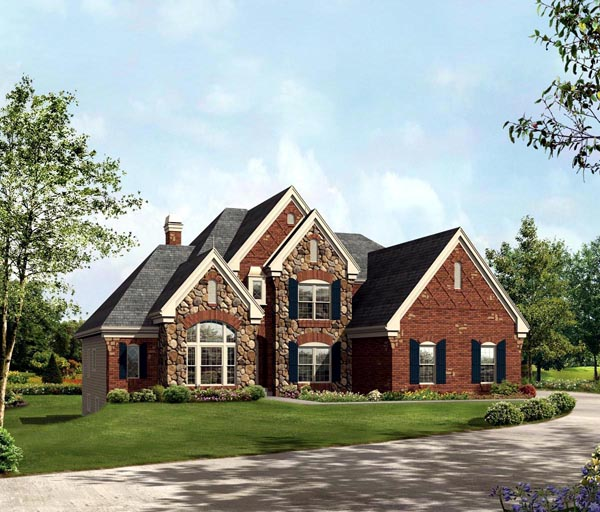 House Plan 95841 | Style Plan with 4409 Sq Ft, 4 Bedrooms, 4 Bathrooms, 3 Car Garage Elevation