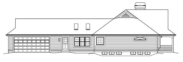 Country, Ranch House Plan 95842 with 3 Beds, 3 Baths, 2 Car Garage Picture 1