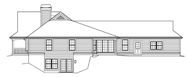 Country, Ranch House Plan 95842 with 3 Beds, 3 Baths, 2 Car Garage Picture 2