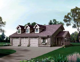 Country House Plan 95843 Elevation