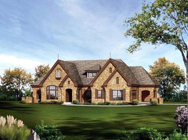 Ranch Tudor House Plan 95845 Elevation