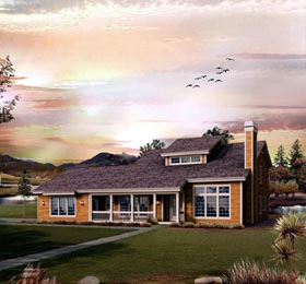 Contemporary Country House Plan 95846 Elevation