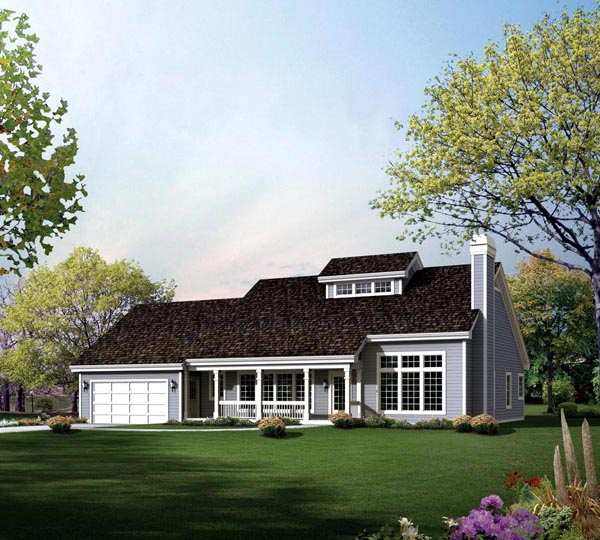 Contemporary, Country House Plan 95848 with 3 Beds, 3 Baths, 2 Car Garage Elevation