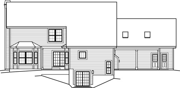 Contemporary Country House Plan 95849