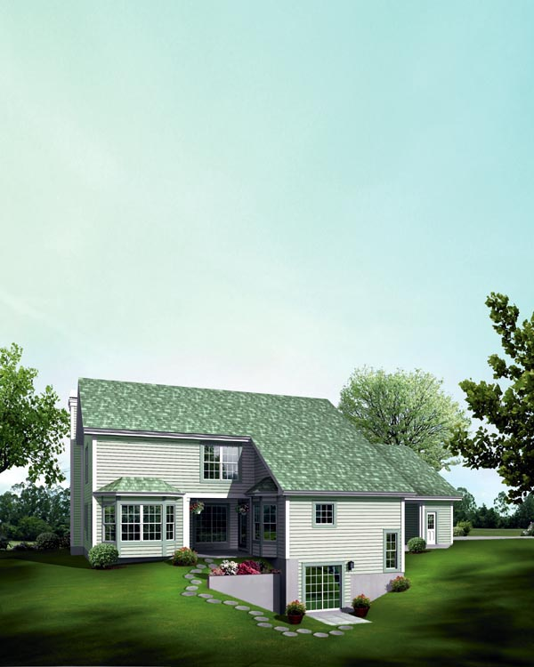 Contemporary Country House Plan 95849 Rear Elevation