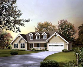 Country , Ranch House Plan 95850 with 3 Beds, 2 Baths, 2 Car Garage Elevation
