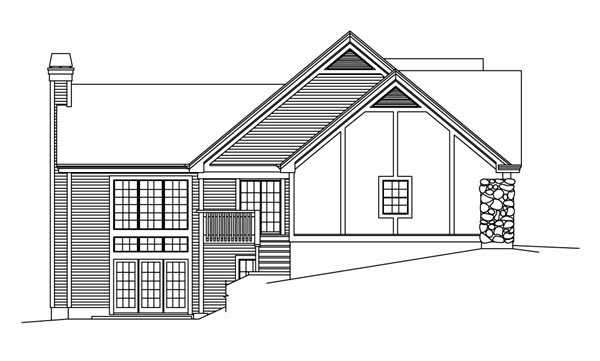 European, Ranch, Traditional, Tudor House Plan 95853 with 4 Beds, 3 Baths, 2 Car Garage Picture 1