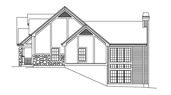 European, Ranch, Traditional, Tudor House Plan 95853 with 4 Beds, 3 Baths, 2 Car Garage Picture 2