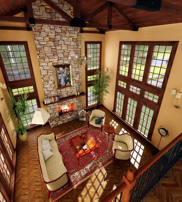 European, Ranch, Traditional, Tudor House Plan 95853 with 4 Beds, 3 Baths, 2 Car Garage Picture 3