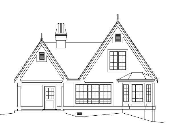 Country House Plan 95855 Rear Elevation