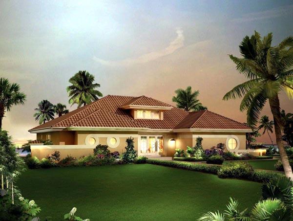Contemporary florida ranch southwest house plan 95857 for Florida ranch house plans