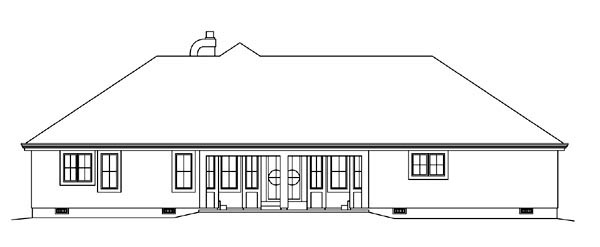 Contemporary Florida Ranch Southwest House Plan 95858 Rear Elevation