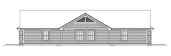 Country Ranch Multi-Family Plan 95862 Rear Elevation