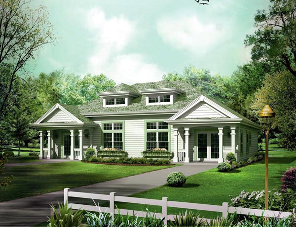 Ranch Traditional Multi-Family Plan 95863 Elevation