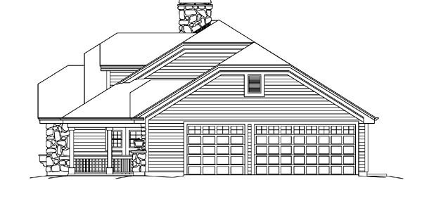 Country, Ranch House Plan 95870 with 3 Beds, 3 Baths, 3 Car Garage Picture 2