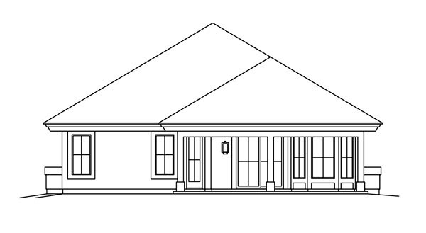 Ranch Southwest House Plan 95871 Rear Elevation