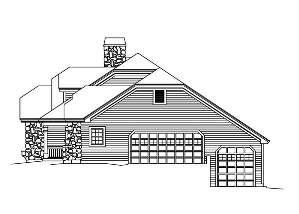 Country, Ranch, Traditional House Plan 95872 with 3 Beds, 3 Baths, 12 Car Garage Picture 2
