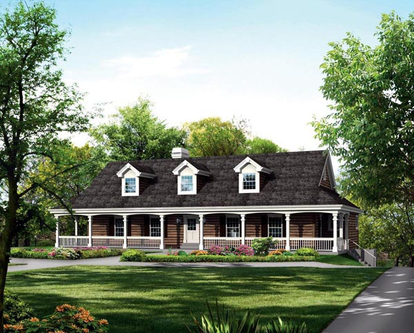 Country , Farmhouse House Plan 95873 with 3 Beds, 2 Baths, 8 Car Garage Elevation
