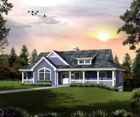 Cabin Cottage Country Traditional House Plan 95874 Elevation