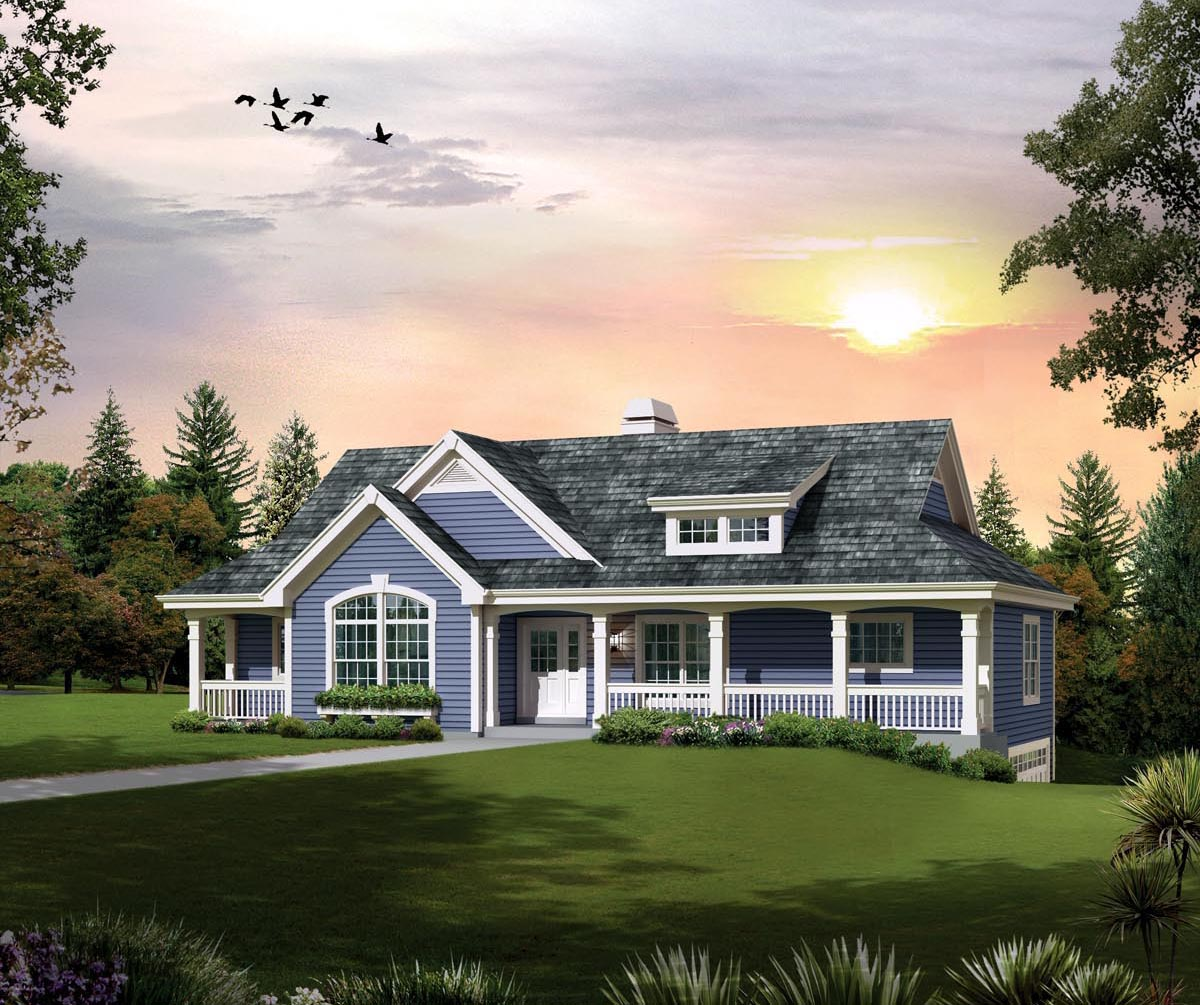 House plan 95874 at for Country home plans with basement