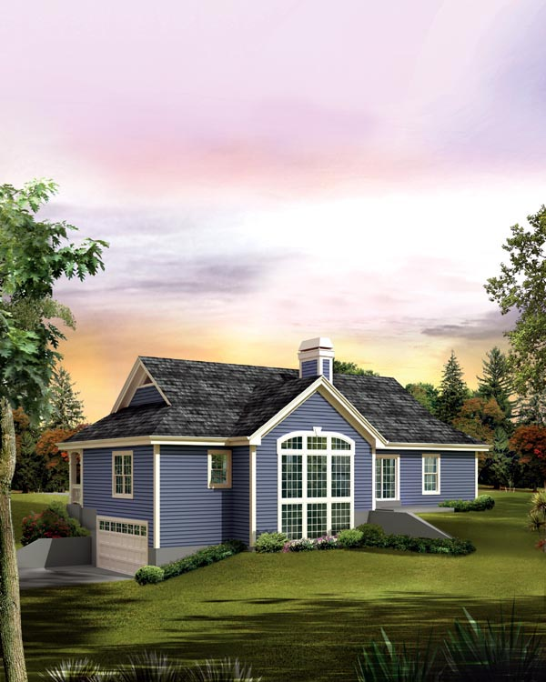 Cabin Cottage Country Traditional House Plan 95874 Rear Elevation
